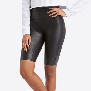 Spanx Faux Leather Bike Short Extra Small NWOT